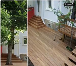 Escalier Terrasse Bois : terrasse sur pilotis en bois composite timbertech ~ Nature-et-papiers.com Idées de Décoration