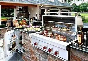 best kuche mit grill gallery house design ideas With französischer balkon mit feuerstelle und grill im garten