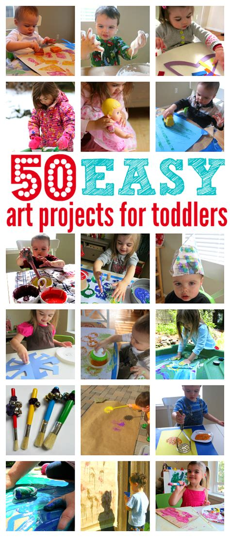 50 easy projects for toddlers no time for flash cards 707 | 50 easy art projects for toddlers