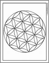 Geometric Coloring Pages Circles Sheet Fun Flower Circle Flowers Printable Designs Overlap Circular Overlapping Colorwithfuzzy sketch template