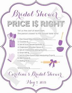 bridal shower game bridal shower bachelorette pinterest With price is right bridal shower game template