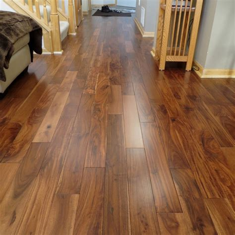 Acacia Asian Walnut Bronze Smooth Hardwood Flooring