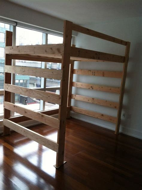 dorm loft bed frame woodworking projects plans