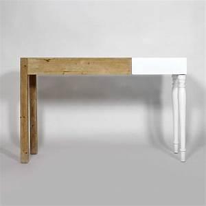 Console Bois Blanc : je fais du cas de ma console en bois le blog d co de made in meubles ~ Teatrodelosmanantiales.com Idées de Décoration