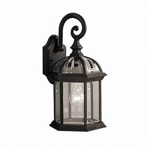 shop kichler barrie 155 in h black outdoor wall light at With kichler lighting 9735bk street outdoor sconce black