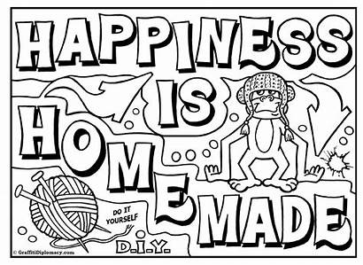Graffiti Coloring Pages Words Bubble Draw Printable