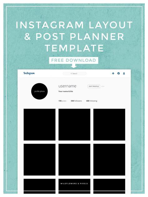 Instagram Post Template Instagram Layout Post Planner Template