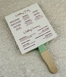 Wedding program paddle fan template matelasse design download print for Fan program template