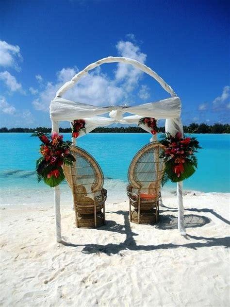 The St Regis Bora Bora Resort Wedding Arch On Private