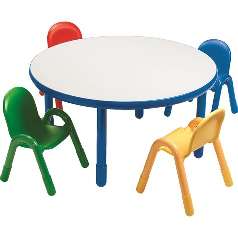 angeles baseline preschool table and chair set in 812 | Angeles Round Baseline Preschool Table and Chair Set in Royal Blue