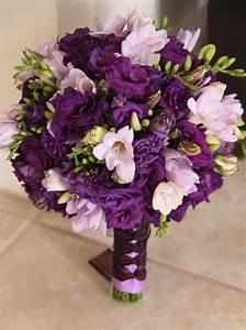 wedding bouquet with purple flowers - wedding flowers 2013