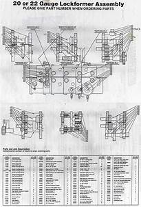 Lockformer Machinery Parts Diagrams  20 Or 22 Gauge Pittsburgh
