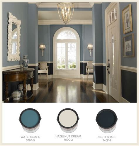 Two Toned Blue Entrance   Interiors By Color