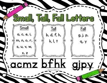 small tall fall lettersposter  dawn marie key tpt