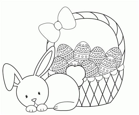 easter basket coloring pages  coloring pages  kids