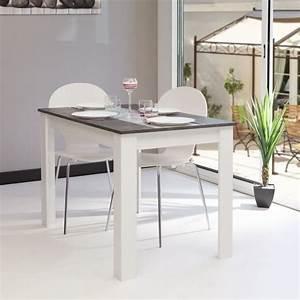 Deco cuisine pour table ronde bois blanc avec rallonge for Table de salle À manger ronde avec rallonge pour petite cuisine Équipée