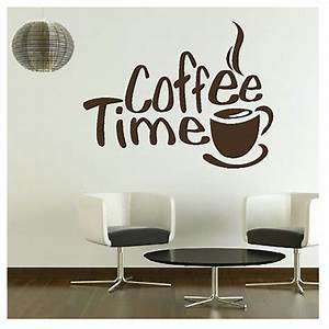 Time Cafe Wall Decals Murals Dining Room Kitchen Coffee ...