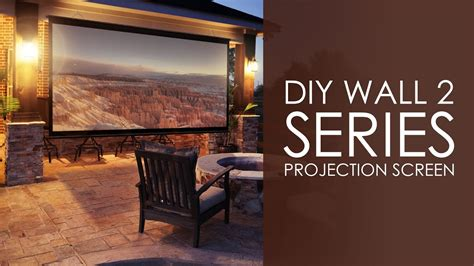 elite screens diy wall  series outdoor projection screen