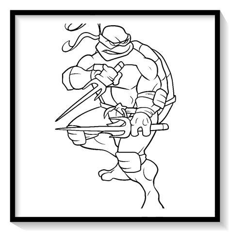 colorear tortugas ninja leonardo 🥇 Biblioteca de imágenes