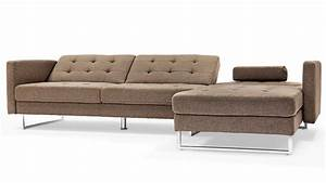 quinn modern brown fabric upholstered sleeper sectional With quinn sectional sofa