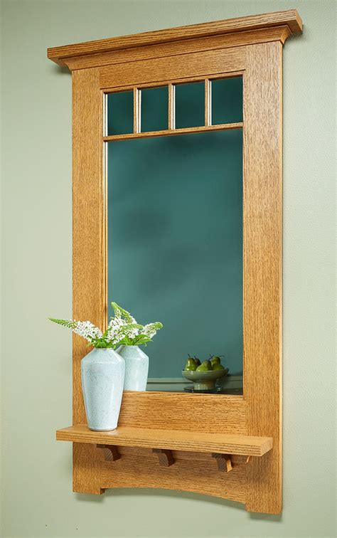 craftsman style wall mirror