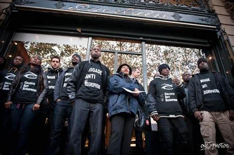 siege guerlain rassemblement devant la boutique de guerlain à voir