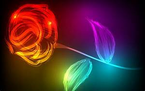 Flowers, Colorful, Digital, Art, Wallpapers, Hd, Desktop, And