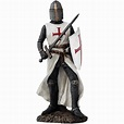 Crusader Knight with Sword and Shield Statue - CC11922 ...