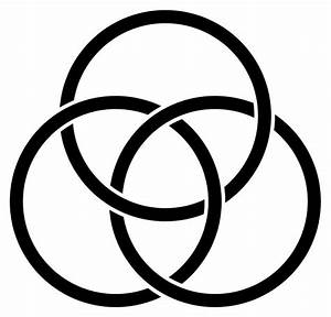 The Borromean Rings represent the trinity. There are many ...