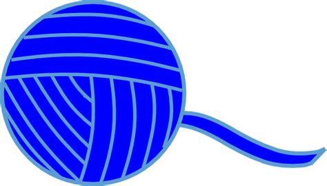 Of Yarn Clip Blue Of Yarn Clip At Clker Vector Clip