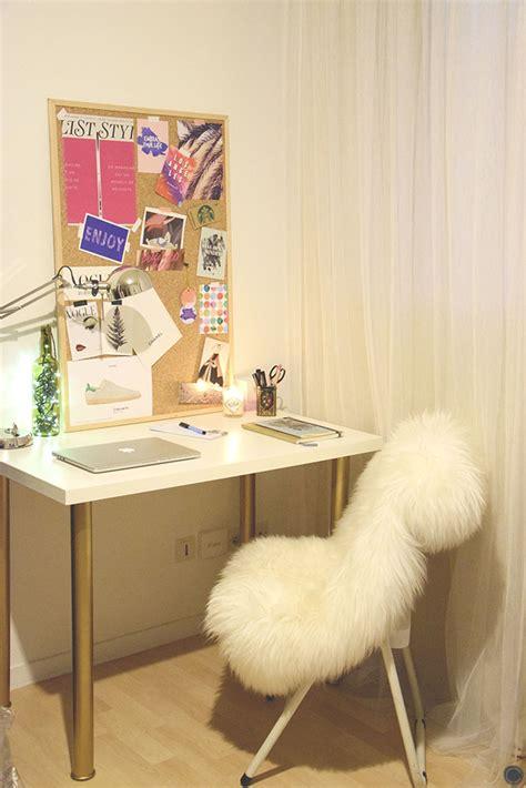 bureau diy diy 18 déco un bureau customisé avec des pieds or