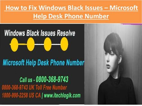 How To Fix Windows Black Issues Through Microsoft Help