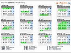 Kalender 20182019 BadenWürttemberg