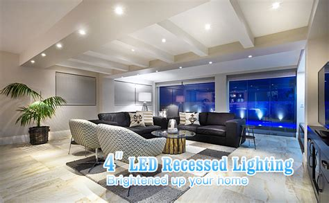 4 Inch LED Recessed Lighting 65W Equivalent Dimmable 4in