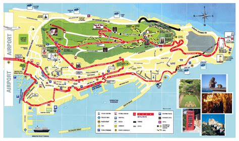 detailed tourist map  gibraltar gibraltar detailed
