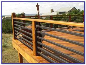 horizontal deck railing ideas decks home decorating ideas v5jwbrep7j