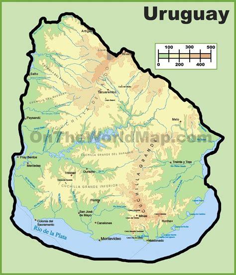 uruguay maps maps  uruguay ontheworldmapcom