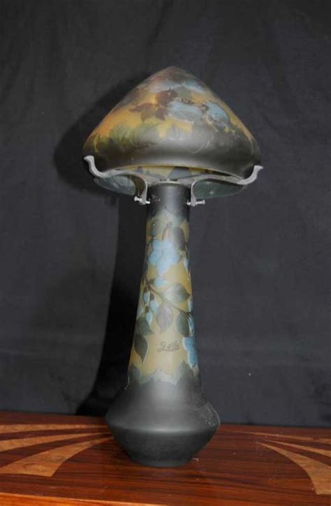 art nouveau glass table lamp galle manza lights