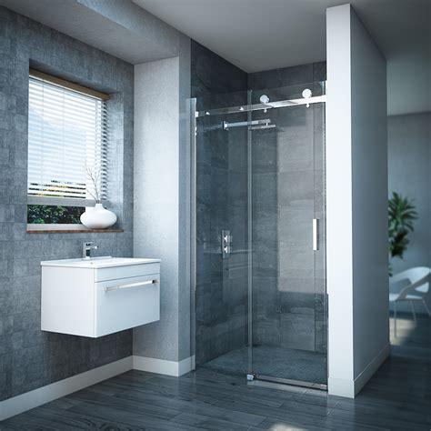 nova frameless sliding shower door  victorian plumbing uk