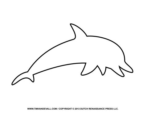 dolphin template dolphin outline clipart