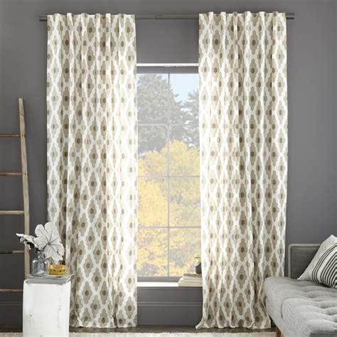 west elm curtains cotton canvas bazaar curtain flax west elm
