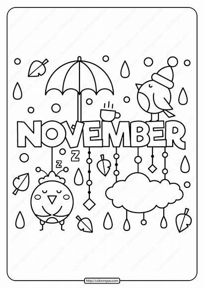 Coloring Printable November Pdf Tweet Whatsapp
