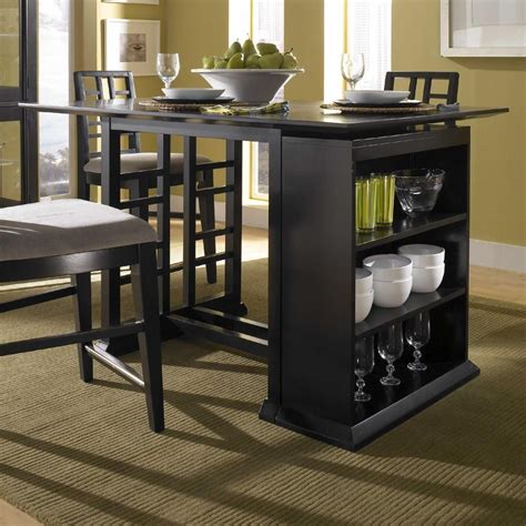 Kitchen Bar Table Storage by Perspectives Counter Height Pub Table With Storage Unit