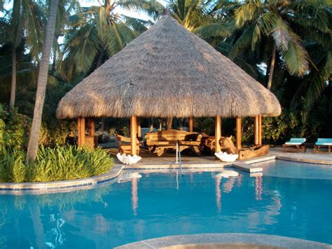 tropical tiki huts poolside tiki hut cabana