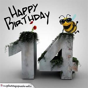 14 Geburtstag Feiern Ideen : happy birthday 3d 14 geburtstag geburtstagsspr che welt ~ Frokenaadalensverden.com Haus und Dekorationen