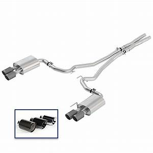 2018-2019 MUSTANG GT 5.0L CAT-BACK TOURING EXHAUST SYSTEM WITH CARBON FIBER TIPS| Part Details ...