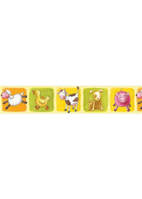 Farm Animal Wallpaper Border - wallpaper borders farm animals wallpapersafari