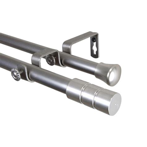telescoping curtain rod kit rod desyne 120 in 170 in satin nickel telescoping