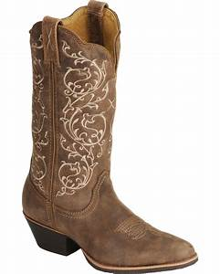 Twisted X Fancy Stitched Cowgirl Boots - Medium Toe Boot