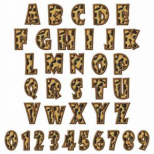 leopard font embroidery font annthegran With animal print letters